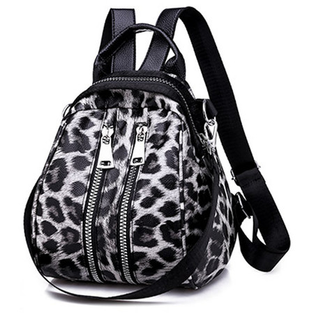 X913 Modny plecaczek damski torebka w panterkę (1)