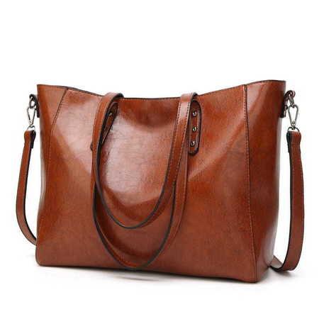 H401 Duża modna torebka shopperka  (1)