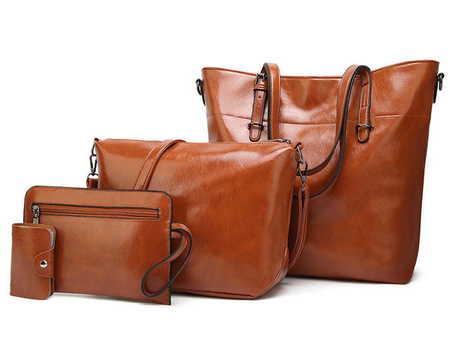 H149 Duża torebka shopperka zestaw 4w1  (1)