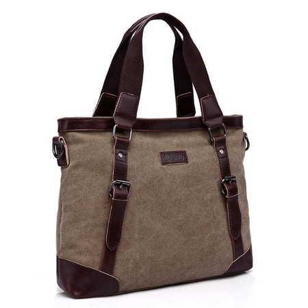 X031 Duża torba damska A4 na laptop canvas  (1)